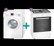 Bosch Wasmachine + Fornuis