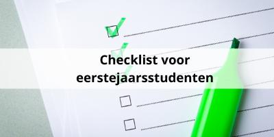 Checklist: dit moet je regelen als eerstejaars student