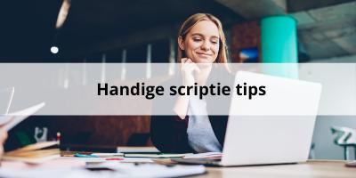 4 Gouden tips voor je scriptie